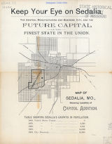 Map of Sedalia. Missouri showing the location of capitol addition