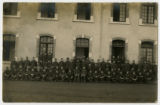 Photograph of the 1102 Aero Squadron, taken in France, c. 1918.