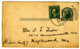 "Postcard from Owen ""Glen"" Tudor to his mother - March 22, 1918"