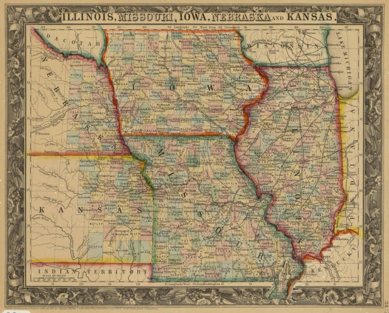 map of nebraska and kansas Map Of Illinois Missouri Iowa Nebraska And Kansas Map map of nebraska and kansas
