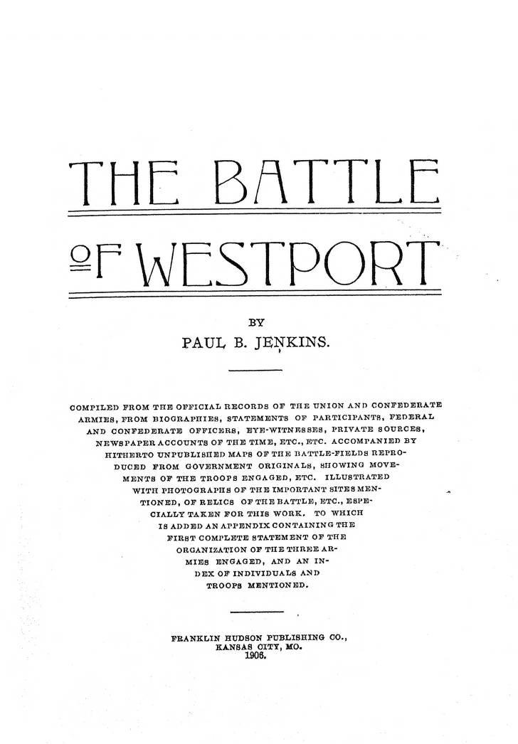 Title Page - American Civil War in Missouri - Digital